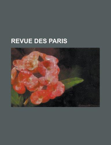 9781234932077: Revue Des Paris
