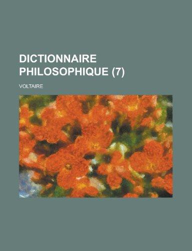 9781234939625: Dictionnaire Philosophique (7)