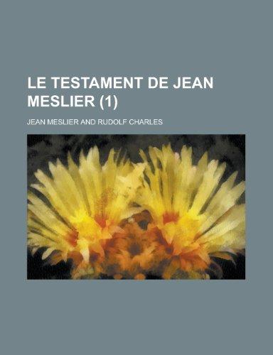 9781234950842: Le Testament de Jean Meslier (1)