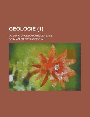9781234956349: Geologie (1); Oder Naturgeschichte Der Erde