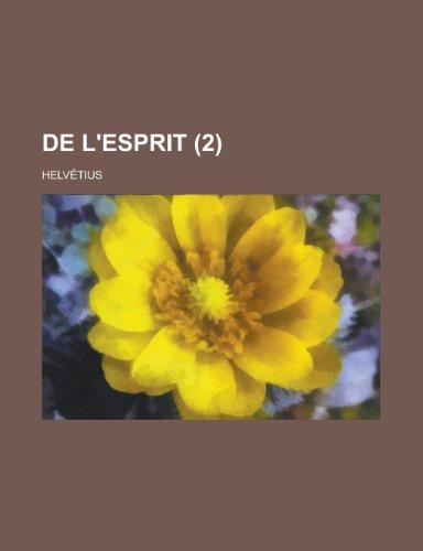 9781234959845: de L'Esprit (2)