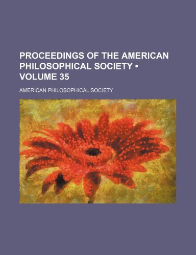 9781234972394: Proceedings of the American Philosophical Society (Volume 35)