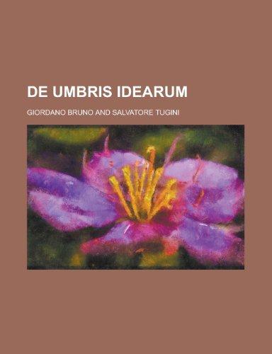 9781235002090: de Umbris Idearum