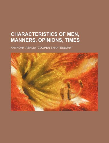 9781235002113: Characteristics of Men, Manners, Opinions, Times