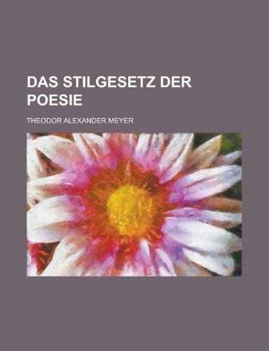 9781235004858: Das Stilgesetz Der Poesie