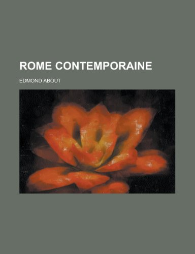 9781235021701: Rome Contemporaine