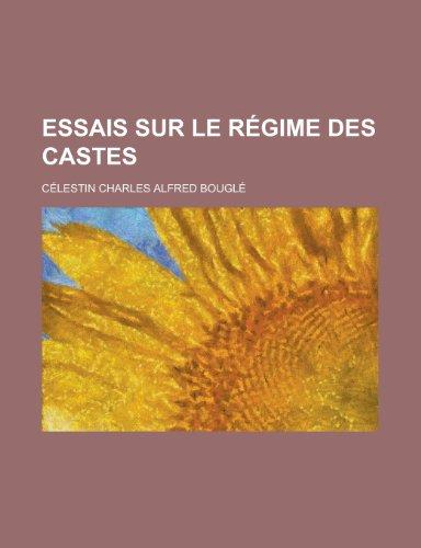 9781235024641: Essais Sur Le Regime Des Castes