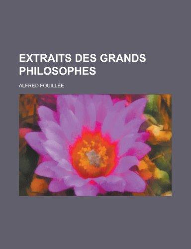 9781235037122: Extraits Des Grands Philosophes