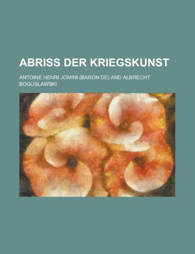 9781235042034: Abriss Der Kriegskunst (German Edition)