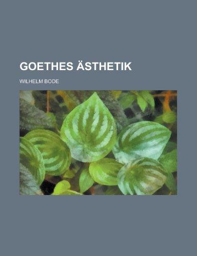 9781235049507: Goethes Asthetik