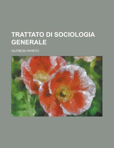 9781235067181: Trattato Di Sociologia Generale