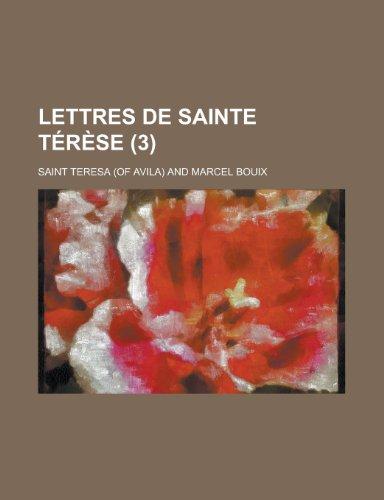 9781235079603: Lettres de Sainte Terese (3)