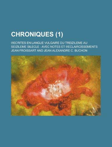 9781235104930: Chroniques (1 )