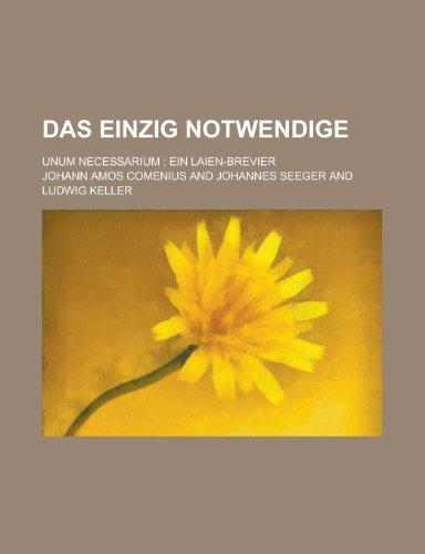 9781235107436: Das Einzig Notwendige (German Edition)