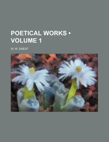 Poetical Works (Volume 1 ) (1235111172) by W. W. Skeat
