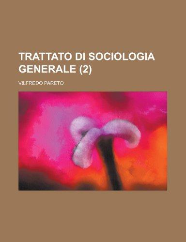 9781235115097: Trattato Di Sociologia Generale (2)