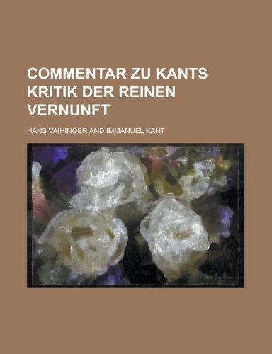 9781235125379: Commentar Zu Kants Kritik Der Reinen Vernunft