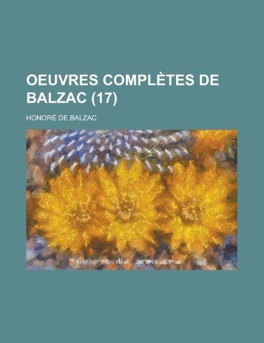 9781235131424: Oeuvres Completes de Balzac (17)