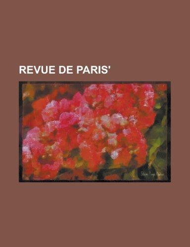 9781235132209: Revue de Paris'