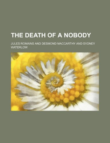 9781235146114: The Death of a Nobody