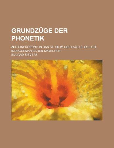 9781235148774: Grundzuge Der Phonetik; Zur Einfuhrung in Das Studium Der Lautlehre Der Indogermanischen Sprachen
