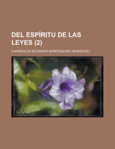 9781235154157: del Espiritu de Las Leyes (2)
