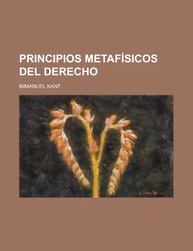 9781235158902: Principios Metafisicos del Derecho