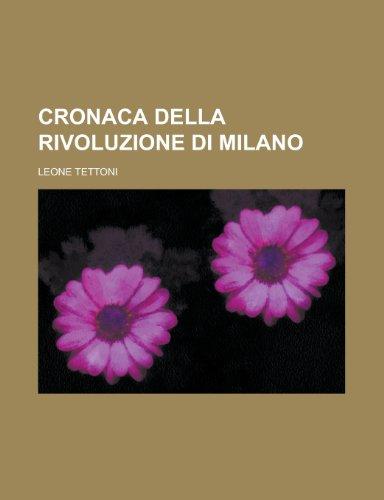 9781235191435: Cronaca Della Rivoluzione Di Milano