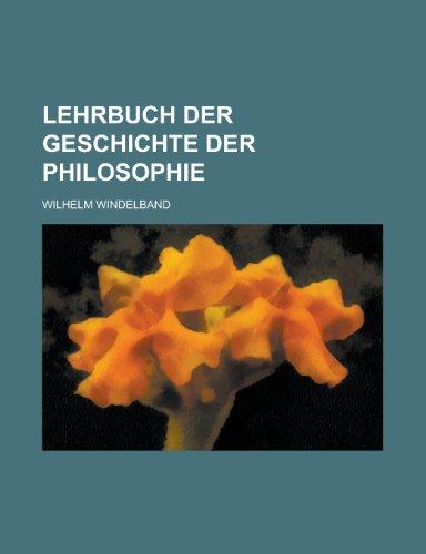 9781235209727: Lehrbuch Der Geschichte Der Philosophie