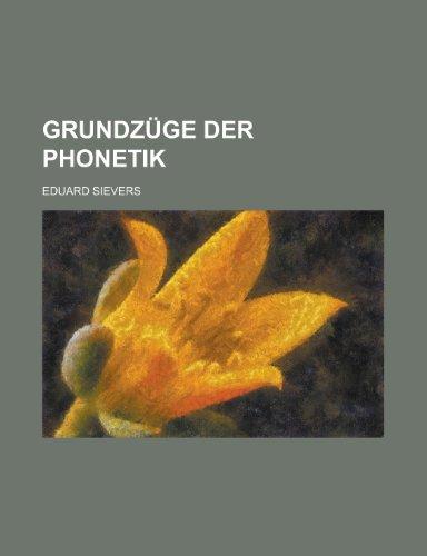 9781235216831: Grundzuge Der Phonetik