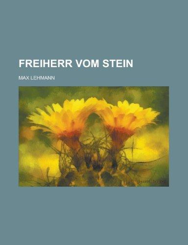 9781235223808: Freiherr Vom Stein
