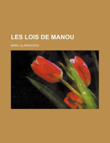 9781235251818: Les Lois de Manou (French Edition)