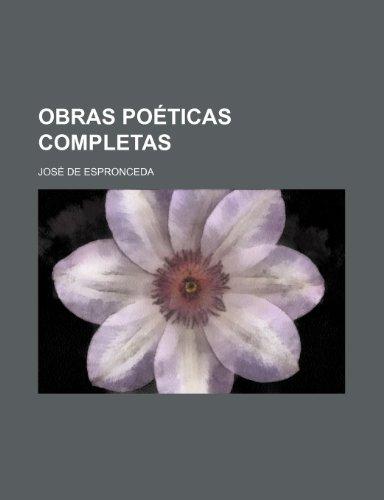 9781235340109: Obras Poeticas Completas