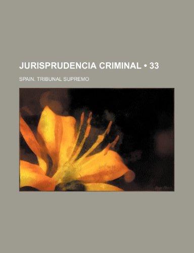 9781235387357: Jurisprudencia Criminal (33)