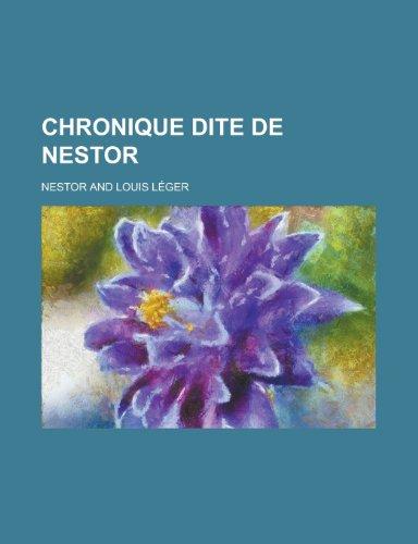 9781235388309: Chronique Dite de Nestor