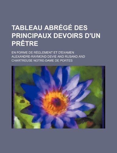 9781235430015: Tableau Abrege Des Principaux Devoirs D'Un Pretre; En Forme de Reglement Et D'Examen