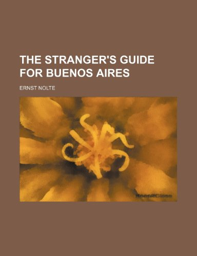 9781235441578: The Stranger's Guide for Buenos Aires