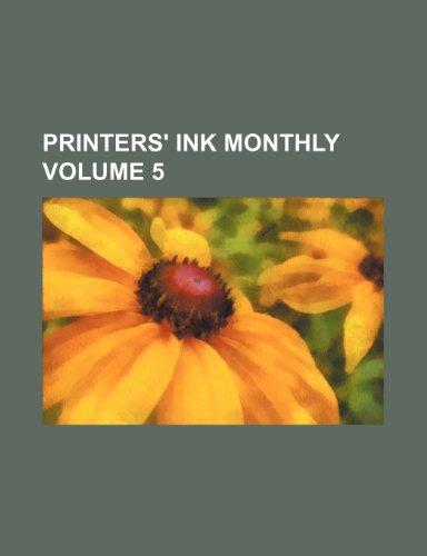 9781235509377: Printers' ink monthly Volume 5