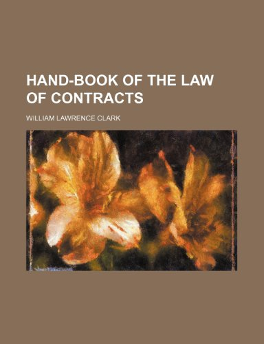 9781235658099: Hand-Book of the Law of Contracts