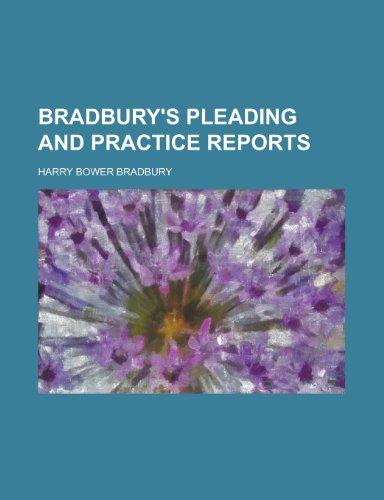 9781235684982: Bradbury's Pleading and Practice Reports