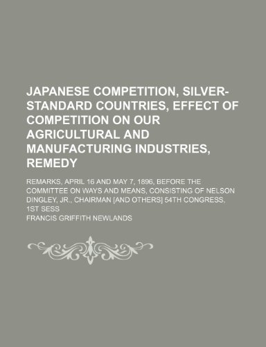 Japanese Competition, Silver-Standard Countries, Effect of Competition: Newlands, Francis Griffith