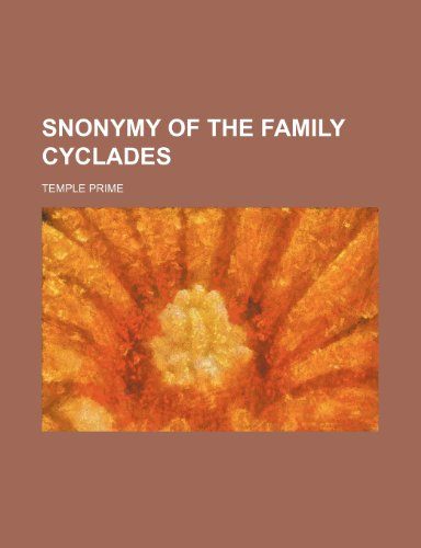 9781235858147: Snonymy of the Family Cyclades