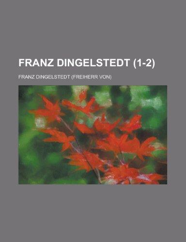 9781235900617: Franz Dingelstedt (1-2)