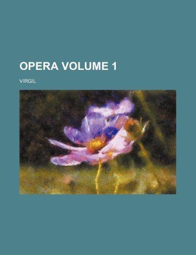 9781235906015: Opera Volume 1