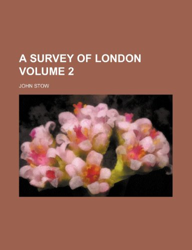9781235960598: A survey of London Volume 2