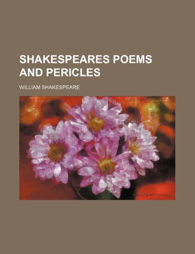 9781235987304: Shakespeares poems and pericles