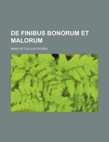9781236037725: De finibus bonorum et malorum