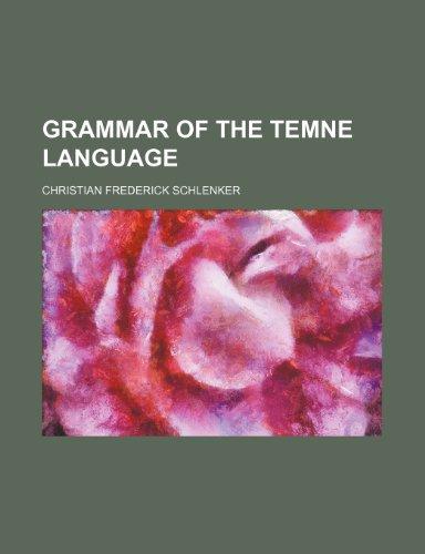 9781236091710: Grammar of the Temne Language