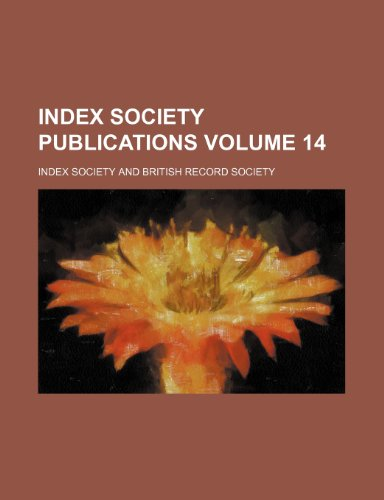 9781236102232: Index Society publications Volume 14
