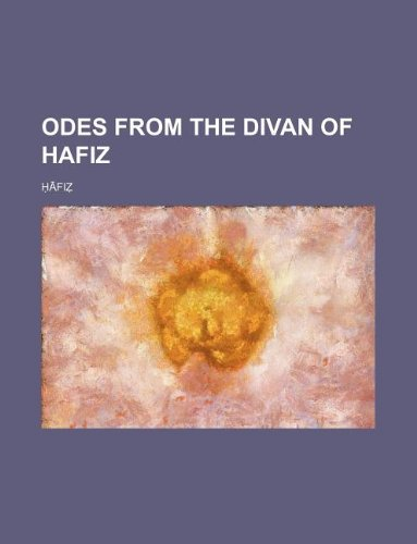 Hafiz used books rare books and new books for Divan of hafiz